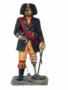 Captain Hook Pirate 6' Life Size Statue
