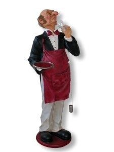 Life Size Wine Connoisseur Butler 6' Display