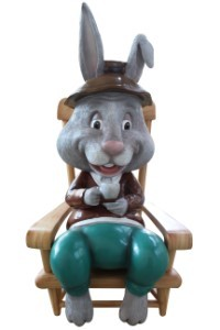 45' Grandpa Bunny in Rocking Chair