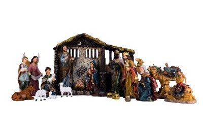21 PIECE NATIVITY SET