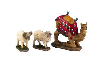 3 pc Camel and Awassi Sheep Set for 14