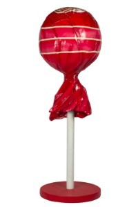 5' Red Lollipop