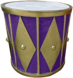 2' Purple and Gold Drum