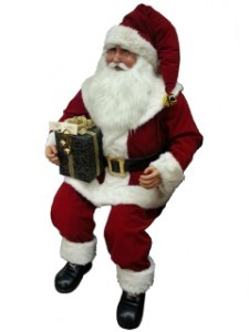 5' Moveable Sitting Santa