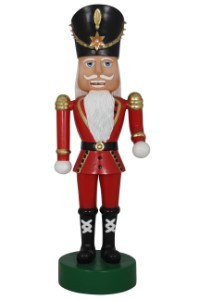 6' Nutcracker Wearing a Red Coat