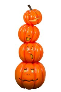 6' Stack of 4 Jack-O-Laterns