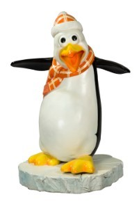 Flipper The Funny Penguin With A Orange Scarf