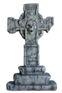 3.5' Capitain Pirate Cross Tombstone