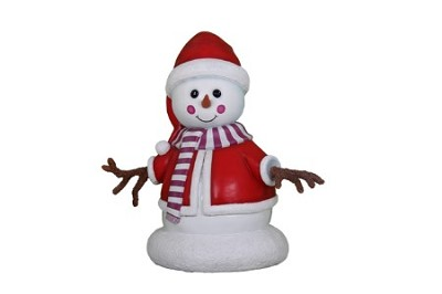 Mini Snowman Girl Dressed in Red