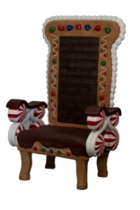 6.5' Gingerbread Throne